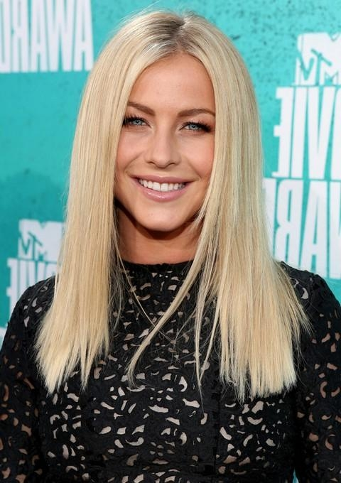 2017 Blunt Long Haircuts Regarding Julianne Hough Hairstyles: Blunt Straight Haircut – Pretty Designs (View 2 of 15)