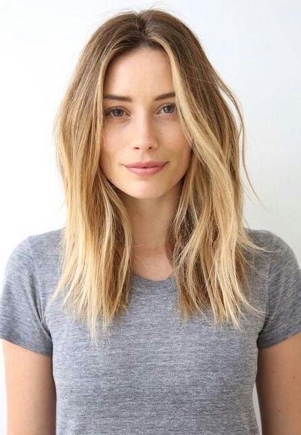 2017 Center Part Long Hairstyles Regarding Best 25+ Middle Part Hairstyles Ideas On Pinterest | Middle Part (View 1 of 20)