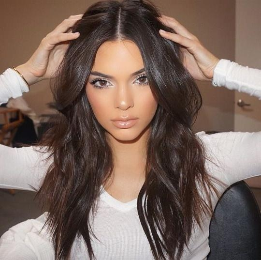 2017 Center Part Long Hairstyles With 25+ Unique Middle Part Hairstyles Ideas On Pinterest | Middle Part (View 2 of 20)