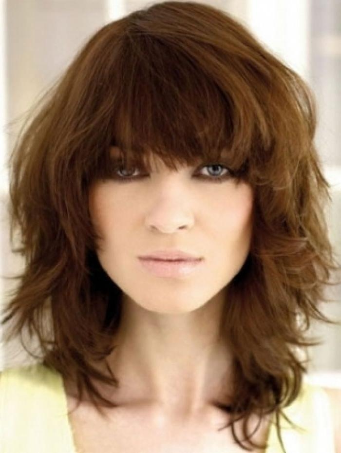 2017 Cute Long Hairstyles With Bangs In Cute Medium Long Haircuts With Bangs (View 1 of 20)