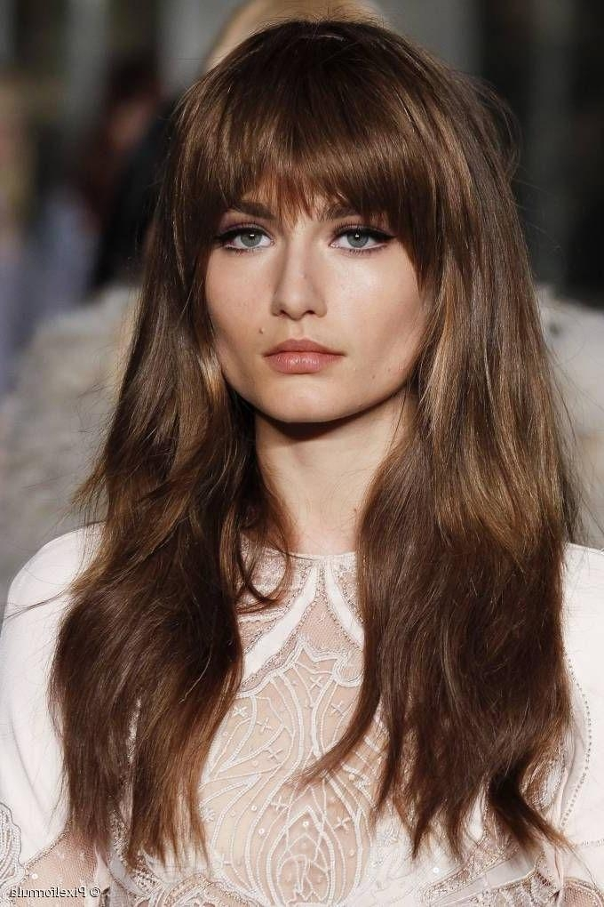 2017 Fringe Long Hairstyles Within The 25+ Best Side Fringe Hairstyles Ideas On Pinterest | Side (View 19 of 20)