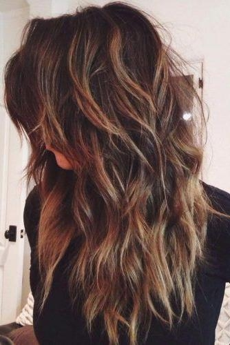 2017 Heavy Layered Long Hairstyles Regarding 25+ Unique Long Choppy Layers Ideas On Pinterest | Long Choppy (View 14 of 20)