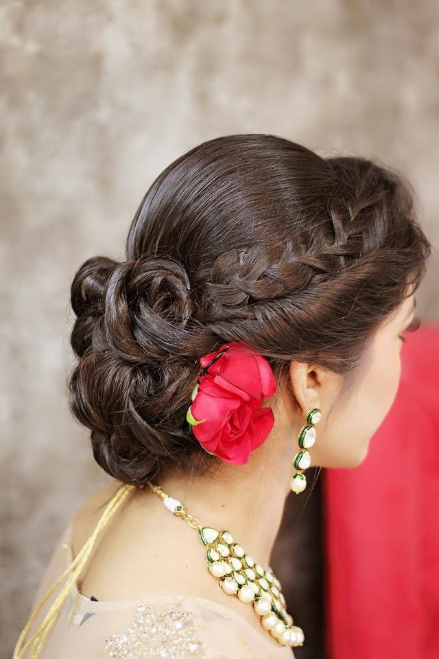 2017 Indian Bridal Long Hairstyles In Best 25+ Indian Bridal Hairstyles Ideas On Pinterest | Indian (View 12 of 20)