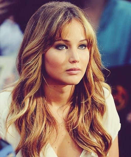 2017 Jennifer Lawrence Long Hairstyles Pertaining To 537 Best Jennifer Lawrence Images On Pinterest | Actresses (View 1 of 20)
