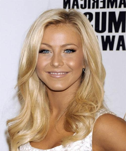 2017 Julianne Hough Long Hairstyles Pertaining To Julianne Hough Long Wavy Casual Hairstyle (View 1 of 15)