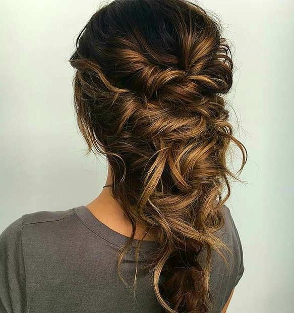 2017 Long Ball Hairstyles Pertaining To 27 Gorgeous Prom Hairstyles For Long Hair | Stayglam (View 1 of 20)