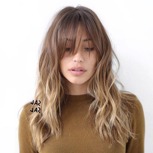 2017 Long Haircuts With Fringes In 20 Fabulous Long Layered Haircuts With Bangs – Pretty Designs (View 1 of 15)