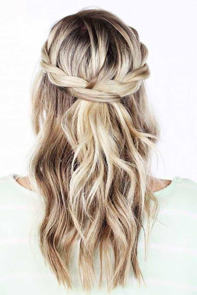 2017 Long Hairstyles For Bridesmaids Throughout 25+ Trending Bridesmaids Hairstyles Ideas On Pinterest (View 2 of 20)