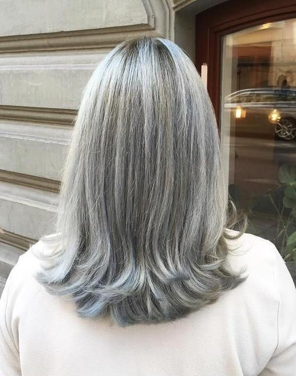 2017 Long Hairstyles For Gray Hair Pertaining To Best 25+ Grey Hair Styles Ideas On Pinterest | Grey Hair Haircut (View 1 of 15)