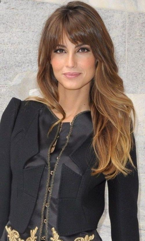 Featured Photo of Long Hairstyles For Square Faces With Bangs