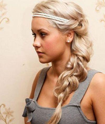 2017 Long Hairstyles With Headbands Within Best 25+ Headband Hairstyles Ideas On Pinterest | Headband Updo (View 1 of 15)