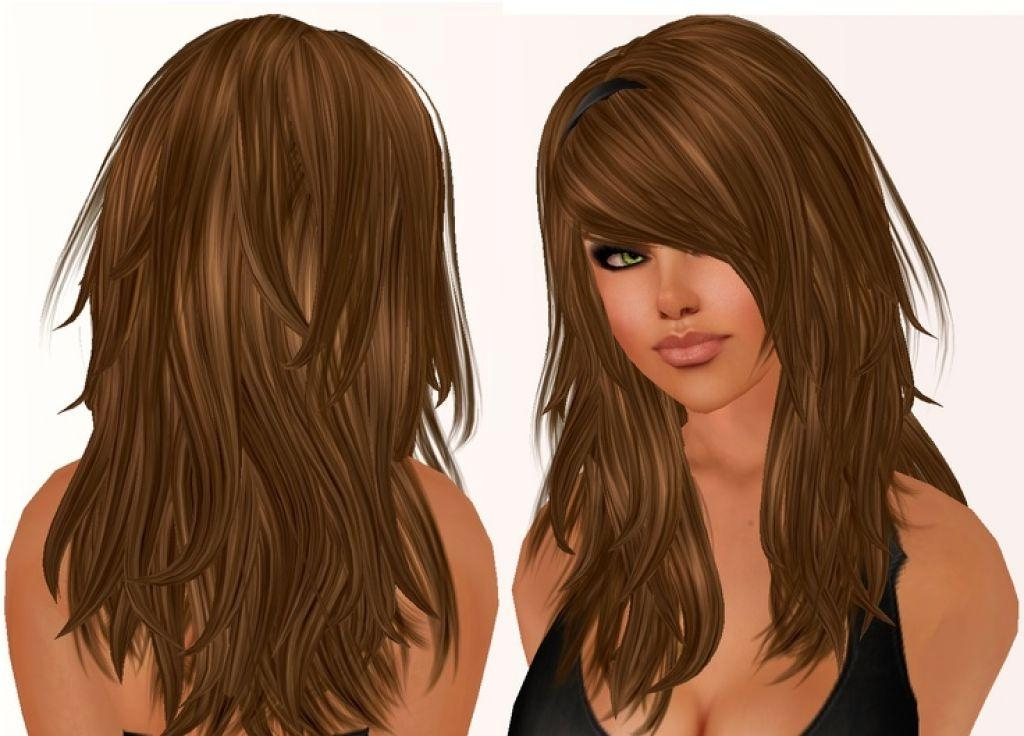 2017 Long Hairstyles With Layers And Side Bangs Regarding 46 Side Fringe Ideas Long Hair, 27 Beautiful Haircuts For Long (View 3 of 20)