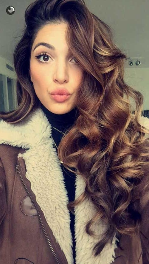 2017 Wavy Curly Long Hairstyles Intended For Best 25+ Long Wavy Curls Ideas On Pinterest | Color For Short Hair (View 1 of 20)