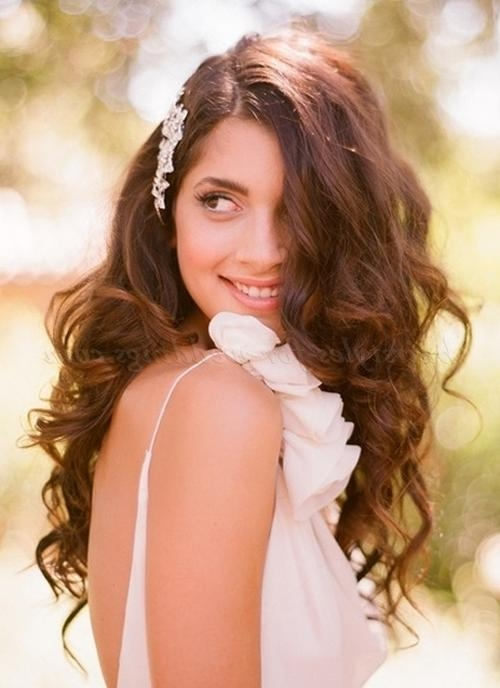 2017 Wedding Long Down Hairstyles With Long Wedding Hairstyles – Hair Down Wavy Hairstyle For Brides (View 17 of 20)