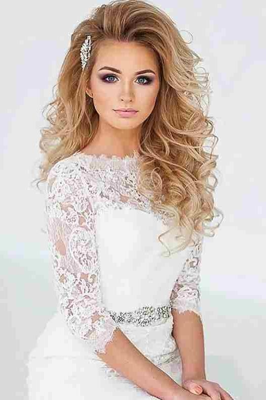 2017 Wedding Long Down Hairstyles With Wedding Hairstyles Down Curls | Hairstyle Ideas (View 3 of 20)