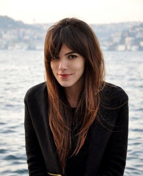 2018 Bangs Long Hairstyles Pertaining To The 25+ Best Long Hairstyles With Bangs Ideas On Pinterest (View 3 of 20)