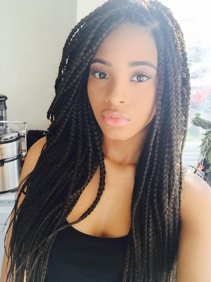 2018 Black People Long Hairstyles Intended For Best 25+ Black Braided Hairstyles Ideas On Pinterest | Black (View 2 of 20)