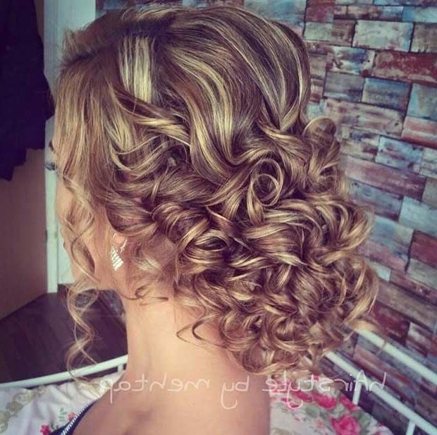 2018 Curly Long Hairstyles For Prom With 25+ Unique Curly Prom Hairstyles Ideas On Pinterest | Curly (View 3 of 15)