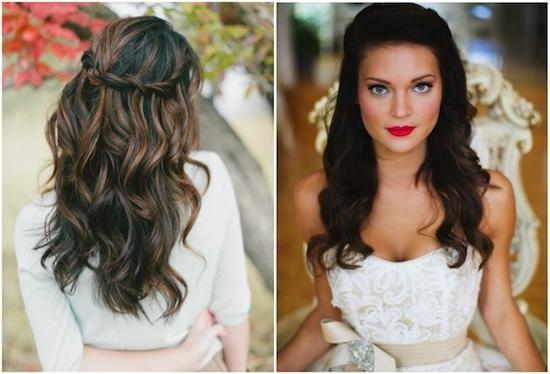2018 Down Long Hairstyles In Hairstyles For Wedding Bride (View 4 of 20)
