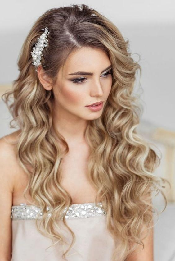 2018 Elegant Long Hairstyles For Weddings Regarding Elstile Long Wedding Hairstyle | Pearls, Flowers And Inspiration (View 13 of 20)