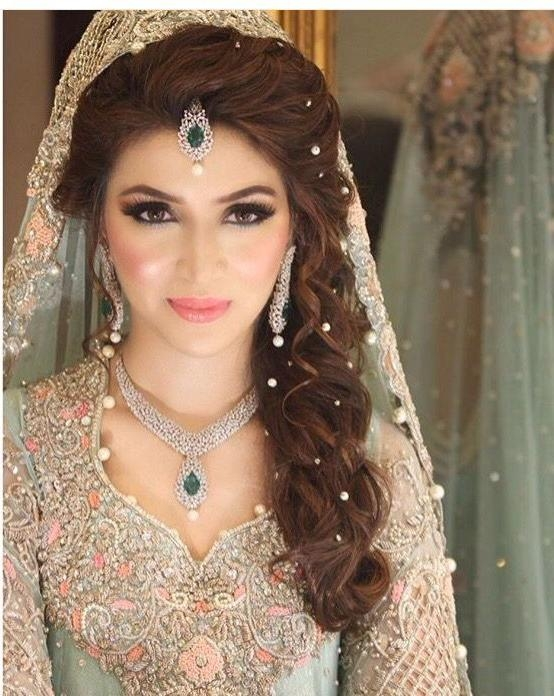 2018 Indian Bridal Long Hairstyles With Regard To Best 25+ Indian Wedding Hairstyles Ideas On Pinterest | Indian (View 8 of 20)