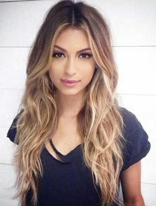 2018 Long Haircuts For Wavy Hair Inside Best 25+ Long Wavy Haircuts Ideas On Pinterest | Cute Mom Haircuts (View 1 of 15)