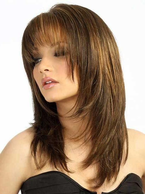 Featured Photo of Long Haircuts With Bangs And Layers For Round Faces