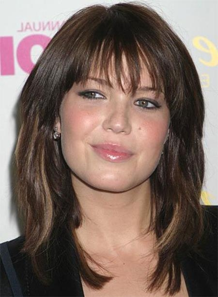 2018 Long Haircuts With Bangs And Layers For Round Faces With 15+ Modern Medium Length Haircuts With Bangs, Layers For Thick (View 3 of 15)