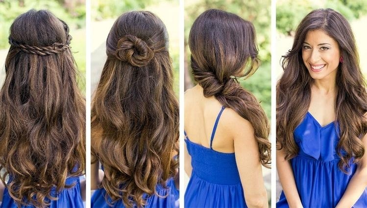 2018 Long Hairstyles Bridesmaids In Easy Bridesmaid Hairstyles For Long Hair | What A Weddings (View 18 of 20)