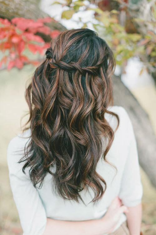 2018 Long Hairstyles Bridesmaids Intended For 25 Most Charming Bridesmaid Hairstyles For Long Hair (View 3 of 20)