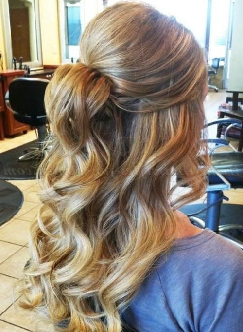 2018 Long Hairstyles For Dances Throughout Best 25+ Formal Hairstyles Down Ideas On Pinterest | Half Up Half (View 16 of 20)