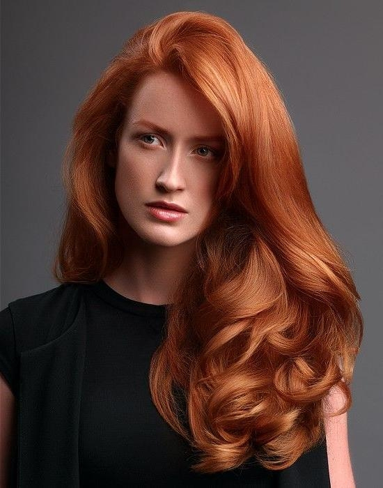 2018 Long Hairstyles For Red Hair With Regard To Christine Margossian Long Red Hairstyles | Hair | Pinterest | Red (View 10 of 20)