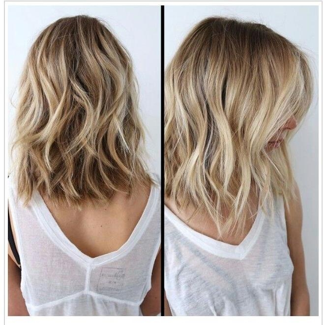 2018 Textured Long Haircuts Inside 25+ Trending Textured Long Bob Ideas On Pinterest | Long Bob With (View 2 of 15)