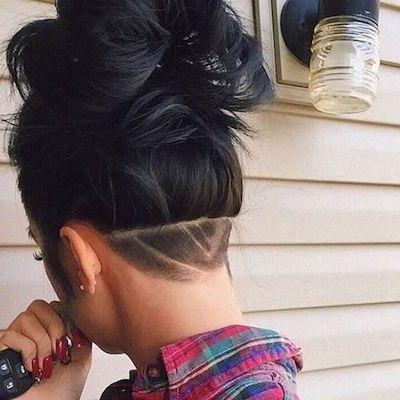 2019 popular undercut long hairstyles for women