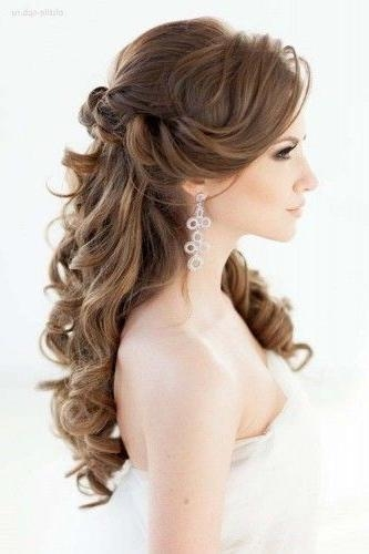 2018 Wedding Half Up Long Hairstyles Regarding Elegant Wedding Hairstyles: Half Up Half Down | Elegant, Weddings (View 2 of 20)