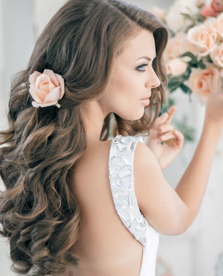 2018 Wedding Long Down Hairstyles In 21 Wedding Hairstyles For Long Hair | More (View 4 of 20)