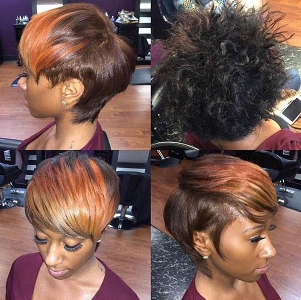 22 Cool Hairstyles For African American Women – Pretty Designs In Burgundy Short Hairstyles (View 2 of 20)