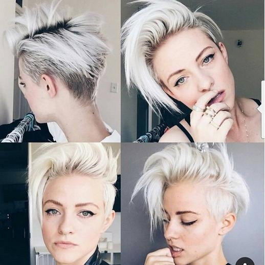 22 Trendy Short Haircut Ideas For 2018: Straight, Curly Hair Inside Short Hairstyles With Both Sides Shaved (View 4 of 20)