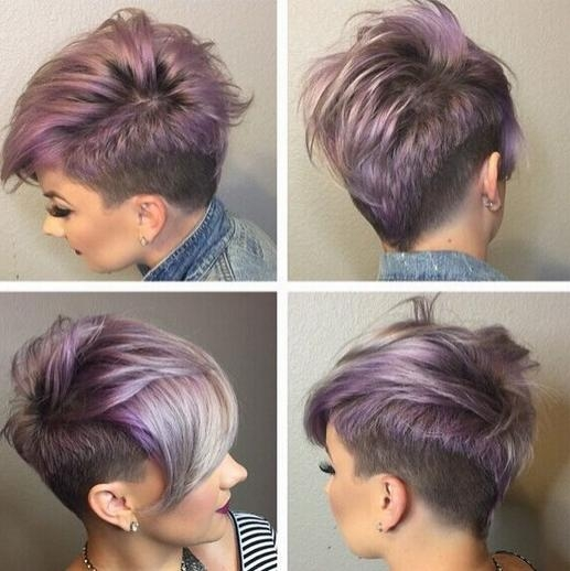 22 Trendy Short Haircut Ideas For 2018: Straight, Curly Hair With Short Hairstyles With Shaved Side (View 2 of 20)