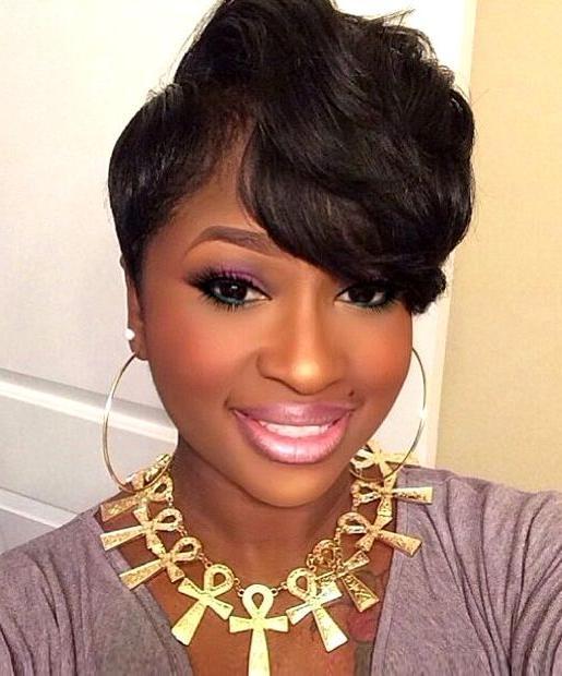 226 Best Short Hair Styles For Black Women Images On Pinterest Regarding Short Haircuts Styles For Black Hair (View 2 of 20)