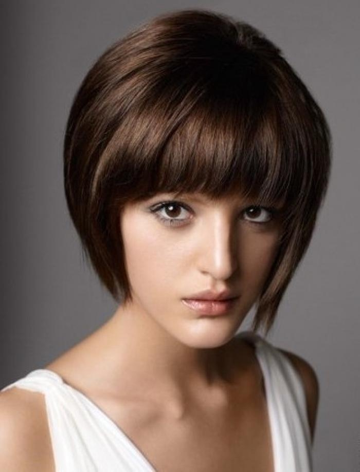 23 Cute Short Hairstyles (With Bangs) | Styles Weekly With Short Hairstyles With Bangs (View 3 of 20)