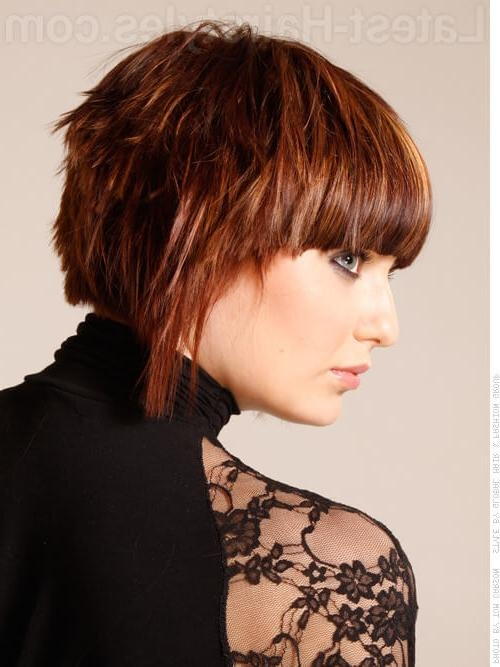 23 Short Haircuts For Thick Hair That People Are Obsessing Over In Within Short Haircuts For Thick Hair With Bangs (View 7 of 20)