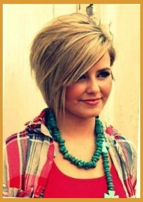 25+ Beautiful Fat Face Haircuts Ideas On Pinterest | Hairstyles In Short Hairstyles For Heavy Round Faces (View 3 of 20)