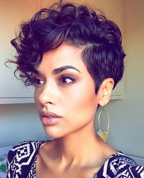 Photo Gallery Of Mohawk Short Hairstyles For Black Women Viewing 20