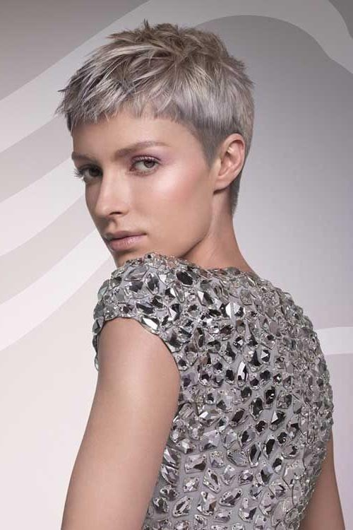 25+ Beautiful Short Gray Hairstyles Ideas On Pinterest | Short Throughout Short Haircuts With Gray Hair (View 9 of 20)