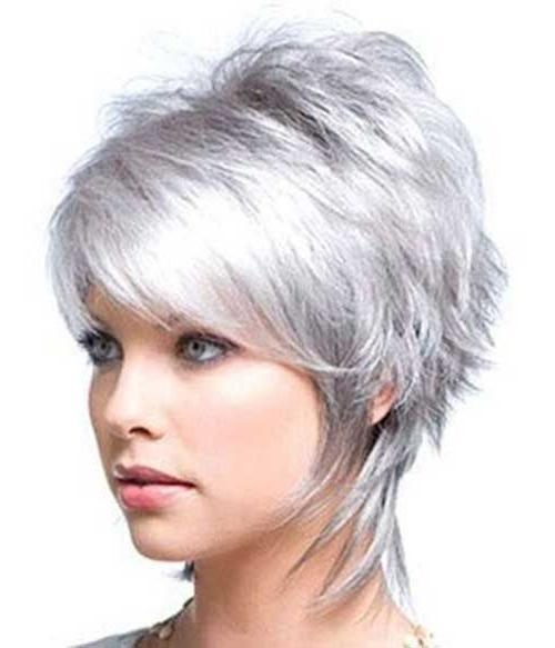 25+ Beautiful Short Gray Hairstyles Ideas On Pinterest | Short Throughout Short Hairstyles For Grey Hair (View 11 of 20)