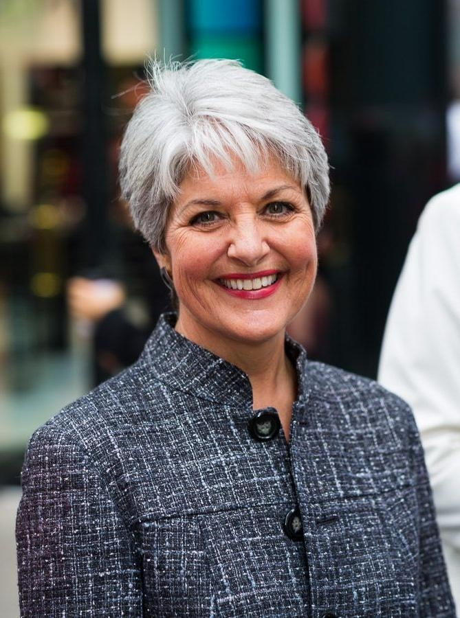25+ Beautiful Short Gray Hairstyles Ideas On Pinterest | Short With Short Hairstyles For Grey Haired Woman (View 5 of 20)