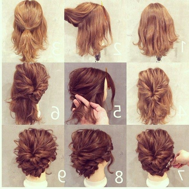 25+ Beautiful Short Hair Updo Ideas On Pinterest | Short Hair With Updo Short Hairstyles (View 4 of 20)