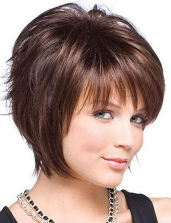 25 Beautiful Short Haircuts For Round Faces 2017 For Short Hairstyles With Bangs And Layers For Round Faces (View 6 of 20)