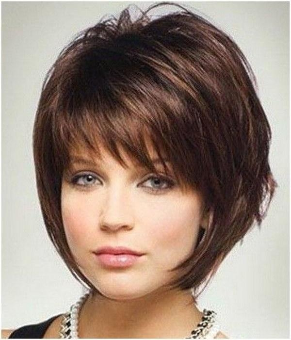 25 Beautiful Short Haircuts For Round Faces 2017 With Regard To Short Hairstyles With Bangs And Layers For Round Faces (View 8 of 20)